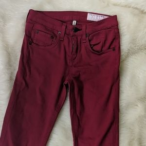 Rag & Bone || High Rise Skinny Jeans Red